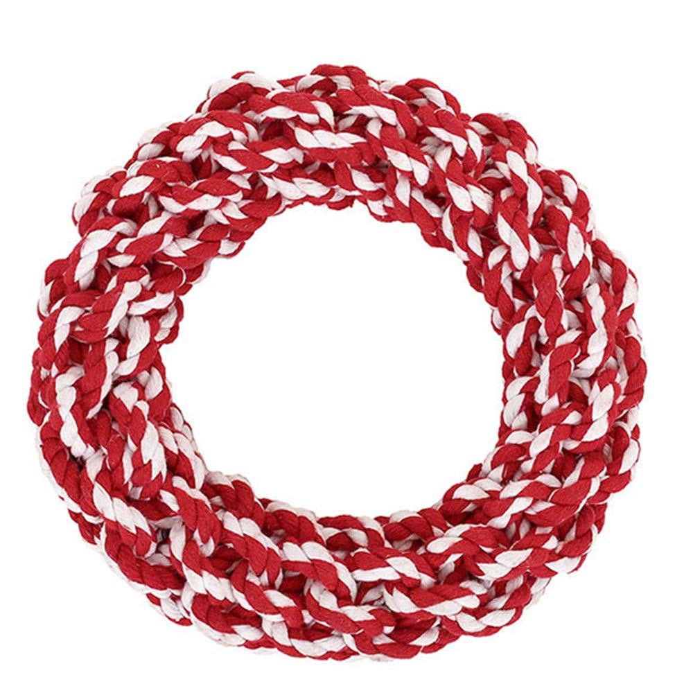 C 19CM in diameter C 19CM in diameter Jian E Pet Toys Dog Rope Knot Toy Big Dog Bite Rope Puppies Alaska gold Hair Bite Pet Rope Ball Large Dog Molar Stick (color   C, Size   19CM in Diameter)