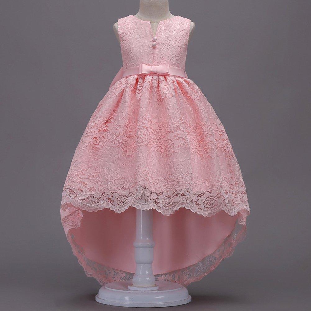 Niña de 13 las flores floral de 19265 encaje bowknot vestido vestido ...