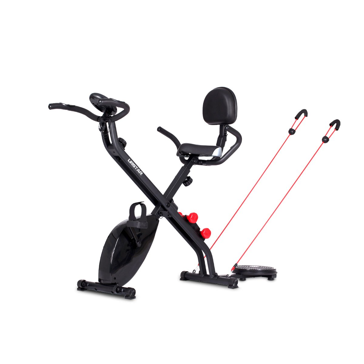 Multifunctional Folding Upright Exercise Bike with Pulse for Body Workout