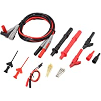 Electronic Digital Multimeter Test Leads with Crocodile Clips Replaceable Probe Tips Set P1300C