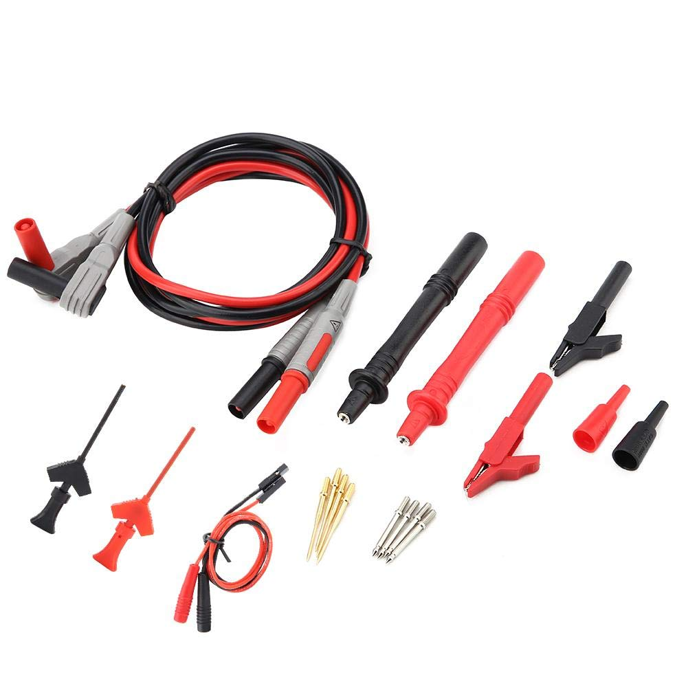 P1300C Electronic Digital Multimeter Test Leads with Crocodile Clips Replaceable Probe Tips Set ele Test Lead Test Lead Kits Multimeter Cable Multimeter Lead Multimeter Kit Test Cable Test Lead Suite