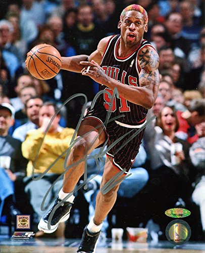 Dennis Rodman Signed Autographed Chicago Bulls Dribbling 8x10 Photo TRISTAR COA Dennis Rodman Hand Signed
