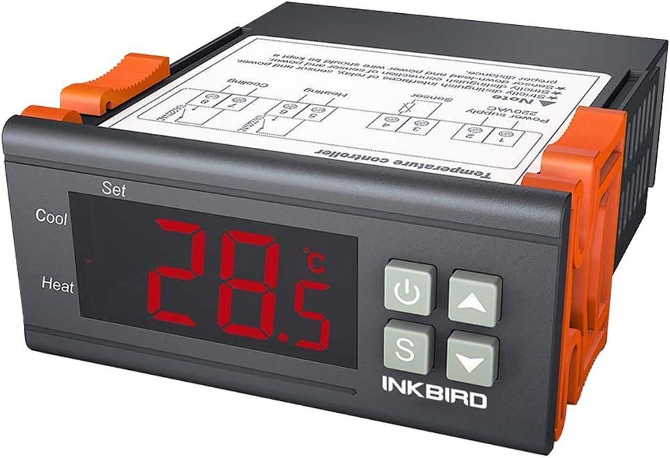 Inkbird ITC-1000 Termostato 12V Control de Temperatura para Calefacción y Refrigeración por Acuarios, Fabricación de Cerveza, Mini Invernadero, Ventilador y Frigorífico