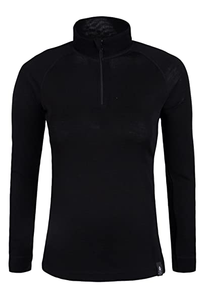 37c39ccd65e Mountain Warehouse Merino Womens Thermal Baselayer Top - Long Sleeves  Ladies T-Shirt