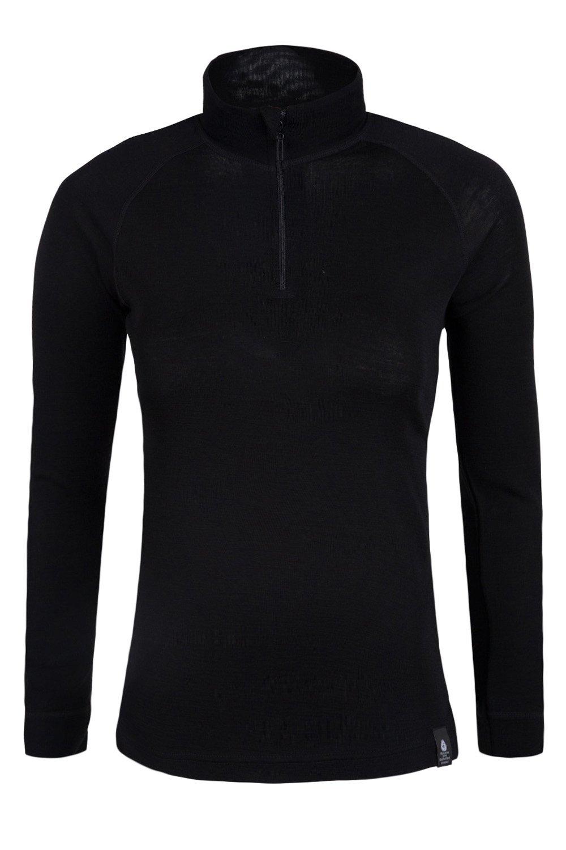 Mountain Warehouse Merino Womens Baselayer Top - Ladies T-Shirt Black 4