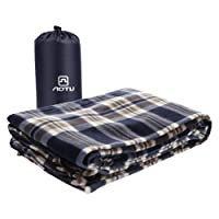 Blanketswarm Microfiber Fleece Zippered Sleeping Bag Lightweight Travel Sheet Liner or Blanket with Carry Storage Bag for Outdoor Camping Cold Weather Climates