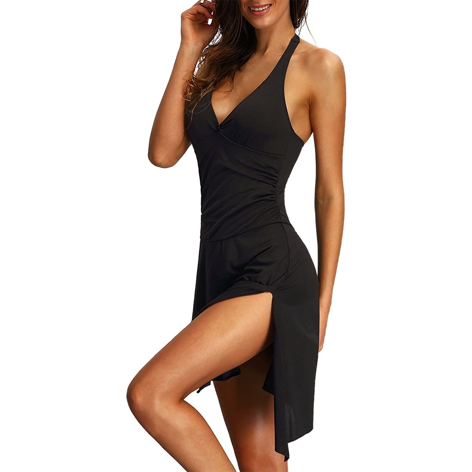 Partiss Women's Sexy V-neck Backless Dress
