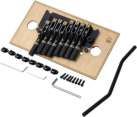 Yibuy - Puente de trémolo para guitarra eléctrica (8 cuerdas ...