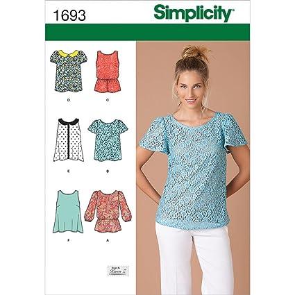 P5 - Patrones de costura para blusas de mujer (tallas 38 a