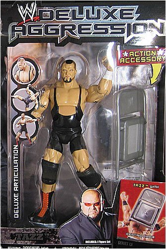 WWE Wrestling DELUXE Aggression Series 15 Action Figure Tazz with Denting Chair