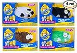 Zhu Zhu Hamster 4 Pack: Captain Zhu, Shamrock, Bamboo, Dezel. Zhu Zhu Pets Are Electronic Talking Motorized Plush Toys for Children. Great Child's Birthday or Christmas Gift for Any Kid, Boy or Girl.