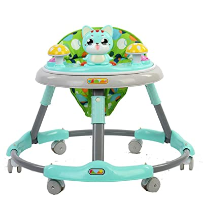 ENHENG Baby Walker with Wheels Andador Walkers for Kids Car Toddler Walker for Kids Learning Baby Walker Music Balance Andador (Green) : Baby