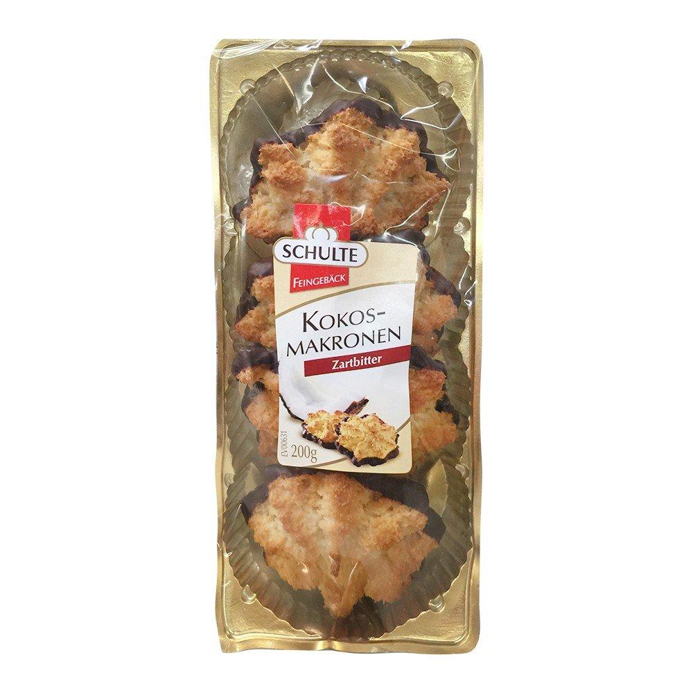 Schulte Kokos - Makronen Zartbitter (200g Packung): Amazon.de ...