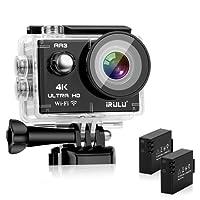 iRULU AA3 Caméra Sport 4K Ultra HD 16MP Sony Capteur WiFi Caméra caméra étanche 30M/100 Feet 170 °Grand Angle avec 2 Batteries et Kit avec de Nombreux Accessoires - Étui de Transport Offert