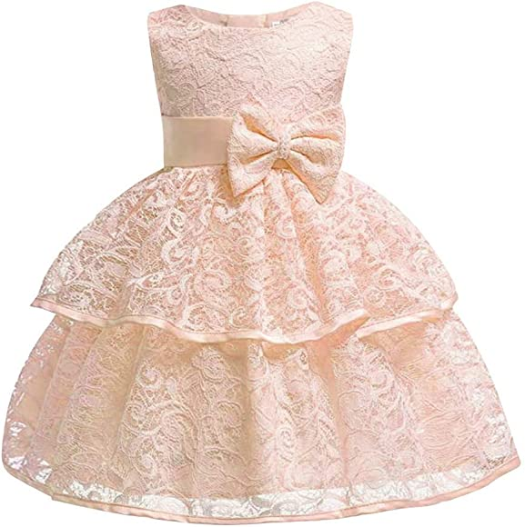 UK Toddler Baby Girls Dress Bowknot Party Pageant Tutu Tulle Princess Dress
