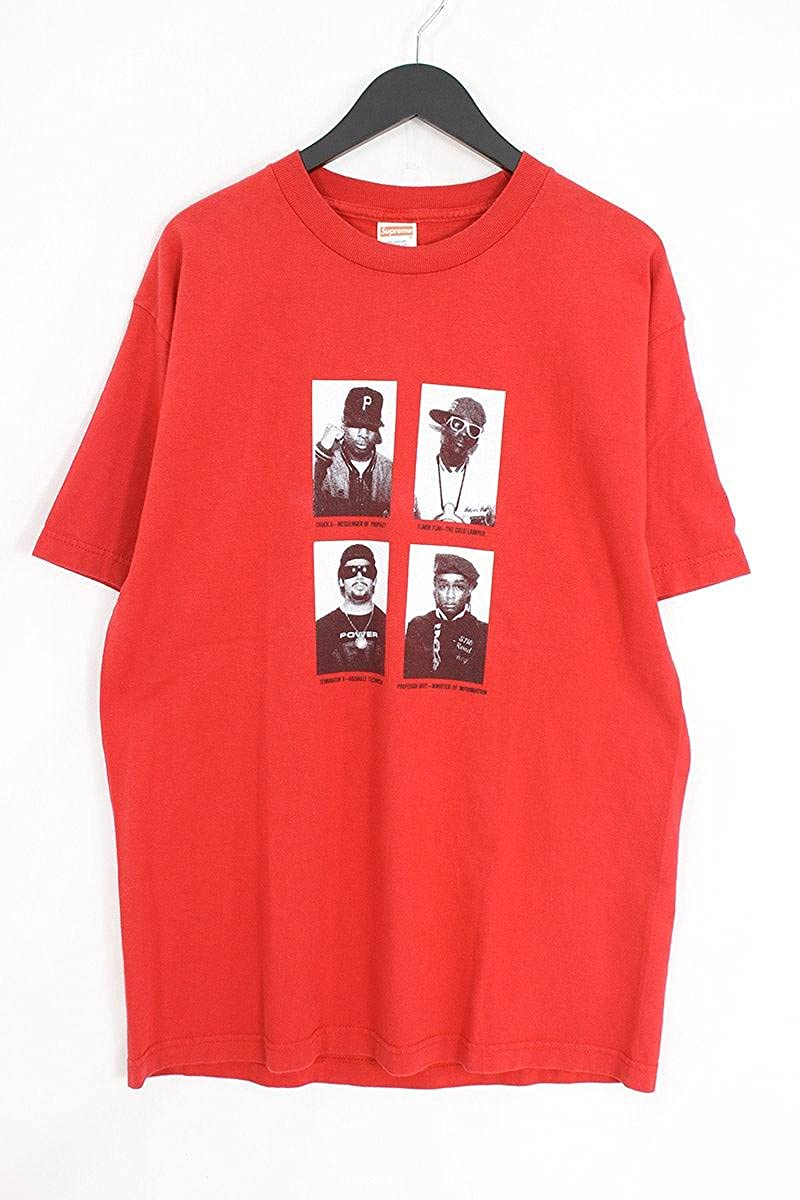 (シュプリーム) SUPREME 【07SS】【MUGSHOTS TEE】×PUBLIC ENEMYマグショットプリントTシャツ(L/レッド) 中古 B07FY8R4GT