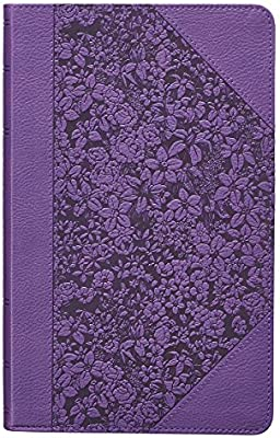 Holy Bible: Purple KJV Bible Giant Print: Christian Art