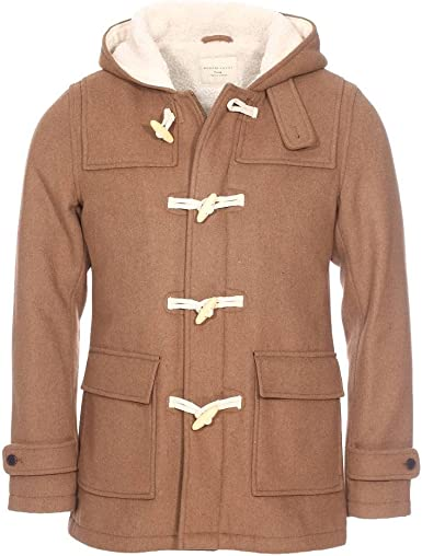 Psalm Ibland ibland Grunder  SELECTED HOMME Men's Shhcarlyle Duffel Coat Jacket, Brown (Camel ...