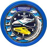 SRA 新幹線クロック 壁掛け時計 SR-WC15001BL (ブルー)