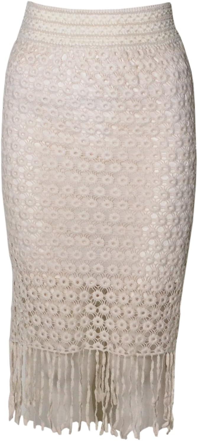 Para mujer Natalie piedra Crochet Tassle diseño de flores parte ...