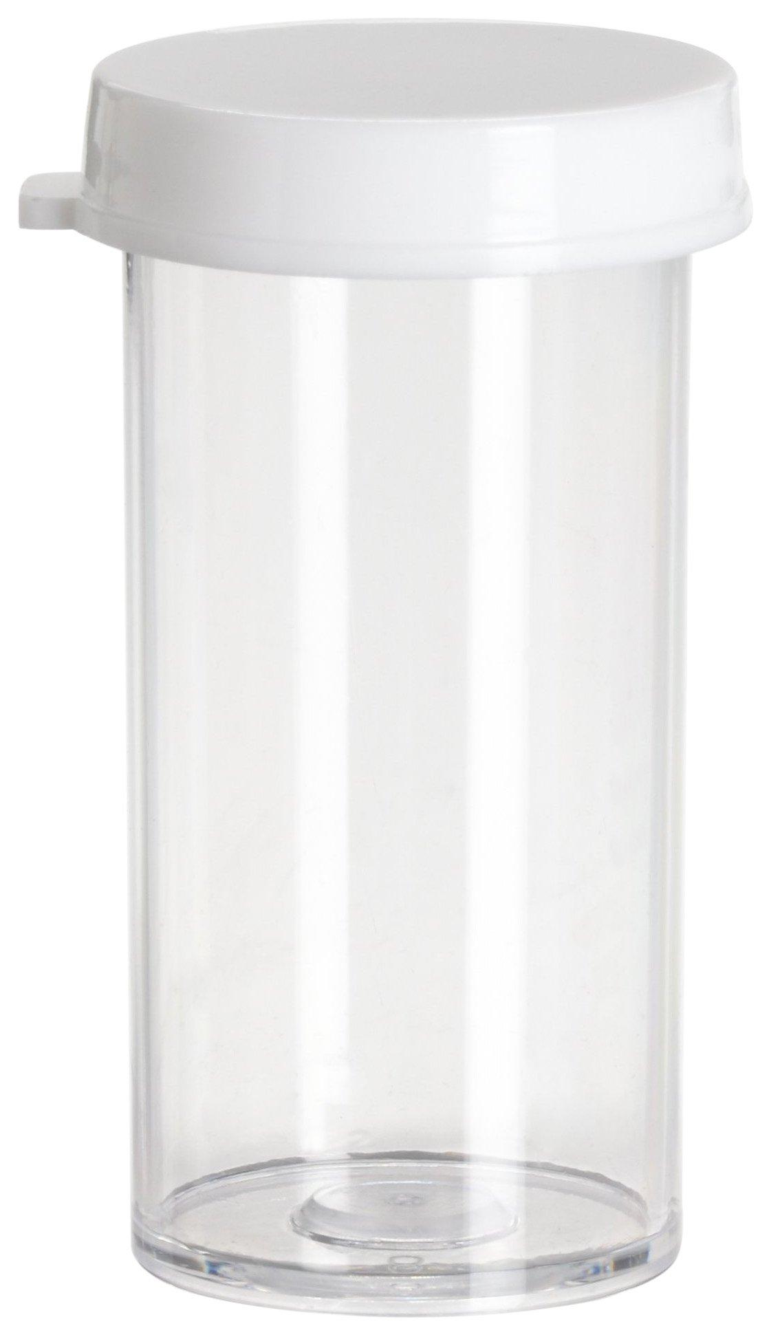 Bel-Art Snap Cap Styrene Vials; 5 dram (19ml), PE Cap (Pack of 144) (F17575-0005)