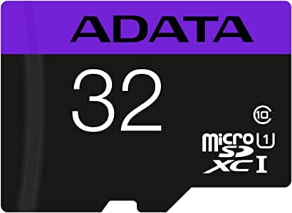 ADATA 32 GB Tarjeta de Memoria Micro SDHC con Adaptador Color Negro con Morado (Clase 10)