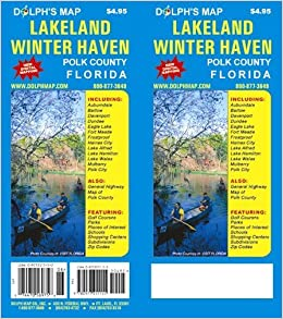 Lakeland Winter Haven Polk County Florida Map Dolph Map