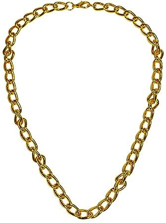 Goldkette gangster damen  erdbeerclown- Karneval Kostüm Accessoire Goldkette Gangster, Gold ...