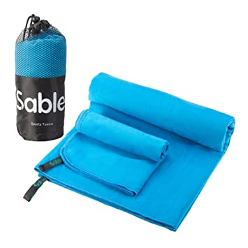 Sable - Toalla de microfibra para gimnasio, playa, deporte, viaje o camping,