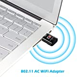 USB WiFi Adapter AC600, USBNOVEL Dual Band 2.4G