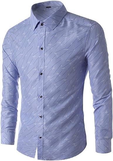 SoonerQuicker Camisa Hombre Tops shirtNueva Camisa de Manga Corta de algodón a Cuadros pequeños de Verano para Hombre Blusa Superior: Amazon.es: Ropa y accesorios
