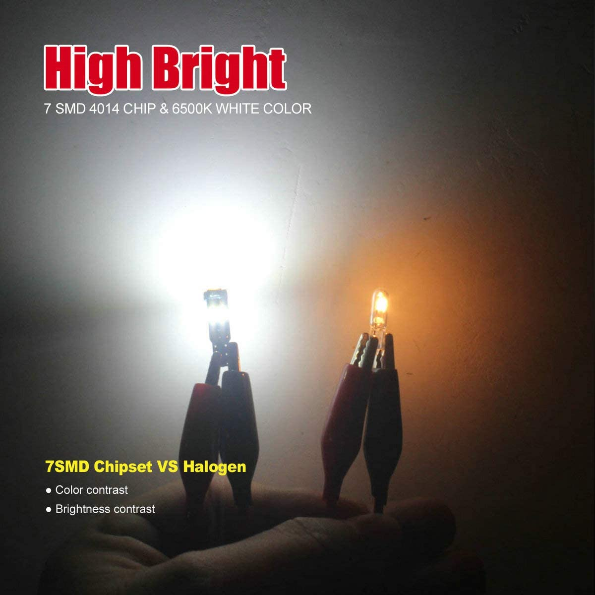 DODOFUN High Bright Red T5 37 74 PC74 PC37 LED Bulb with Twist Lock Socket for Dashboard Instrument Panel Gauge Cluster Light and Map Vanity Mirror Glove Box Indicator Light