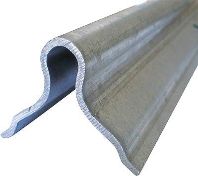 Riel para puertas correderas guiadas por el suelo, longitud 2 m, para empotrar en hormigón.: Amazon.es: Bricolaje y herramientas