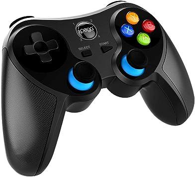 BOLLAER PG-9157 - Mando inalámbrico Bluetooth para iPhone, iPad, Android Phone Tablet, Smart TV, TV Box Gamepad + Joystick + Soporte para teléfono Gamepad Trigger PUBG: Amazon.es: Electrónica