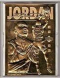 1995 Michael Jordan upper deck 23 KT gold foil sculptured trading card.