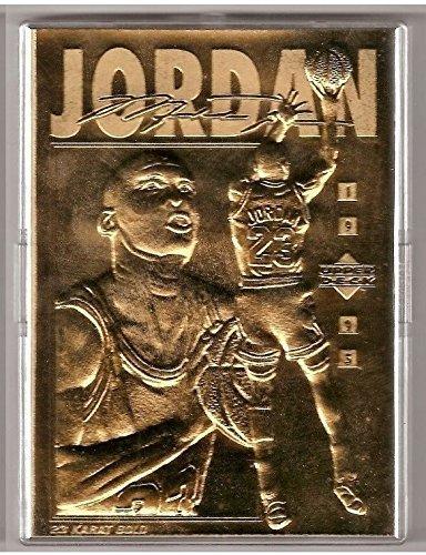 22849436d06 Image Unavailable. Image not available for. Color  1995 Michael Jordan  upper deck 23 KT gold foil ...