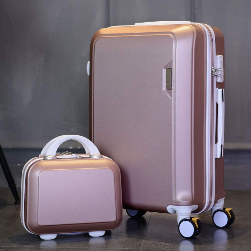 トロリーボックスマザーボックスボックスコンビネーション荷物ボックスユニバーサルホイールスーツケースロックボックス (Color : ローズゴールド, Size : 24 inches)   B07R5QRB9T