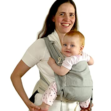 8247bf8877f Amazon.com   DIDYMOS DidyKlick Soft Structured Baby Carrier Silver (Organic  Cotton)