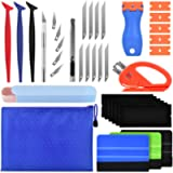 PACETAP Car Window Tinting Vinyl Wrap Tools 11 Pcs Window Tint Tools Kit Including Package Bag, Felt Squeegee, Edge…