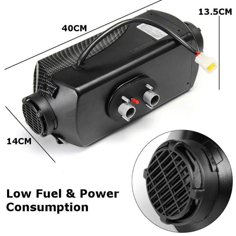 miniflower Grid Style 5KW 12V Car Heater Air Diesels Heater Parking Heater with Remote Control LCD Monitor for RV Motorhome Trailer Trucks Boats