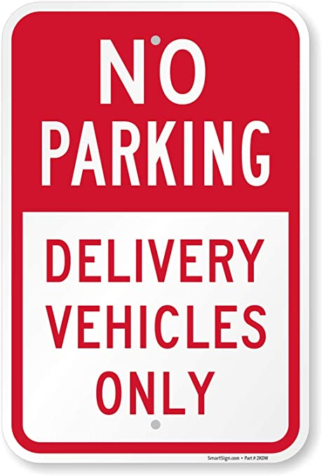 Victorian Frame Heavy-Duty Industrial Self-Adhesive Aluminum Wall Decal No Parking 16x16 CGSignLab 5-Pack