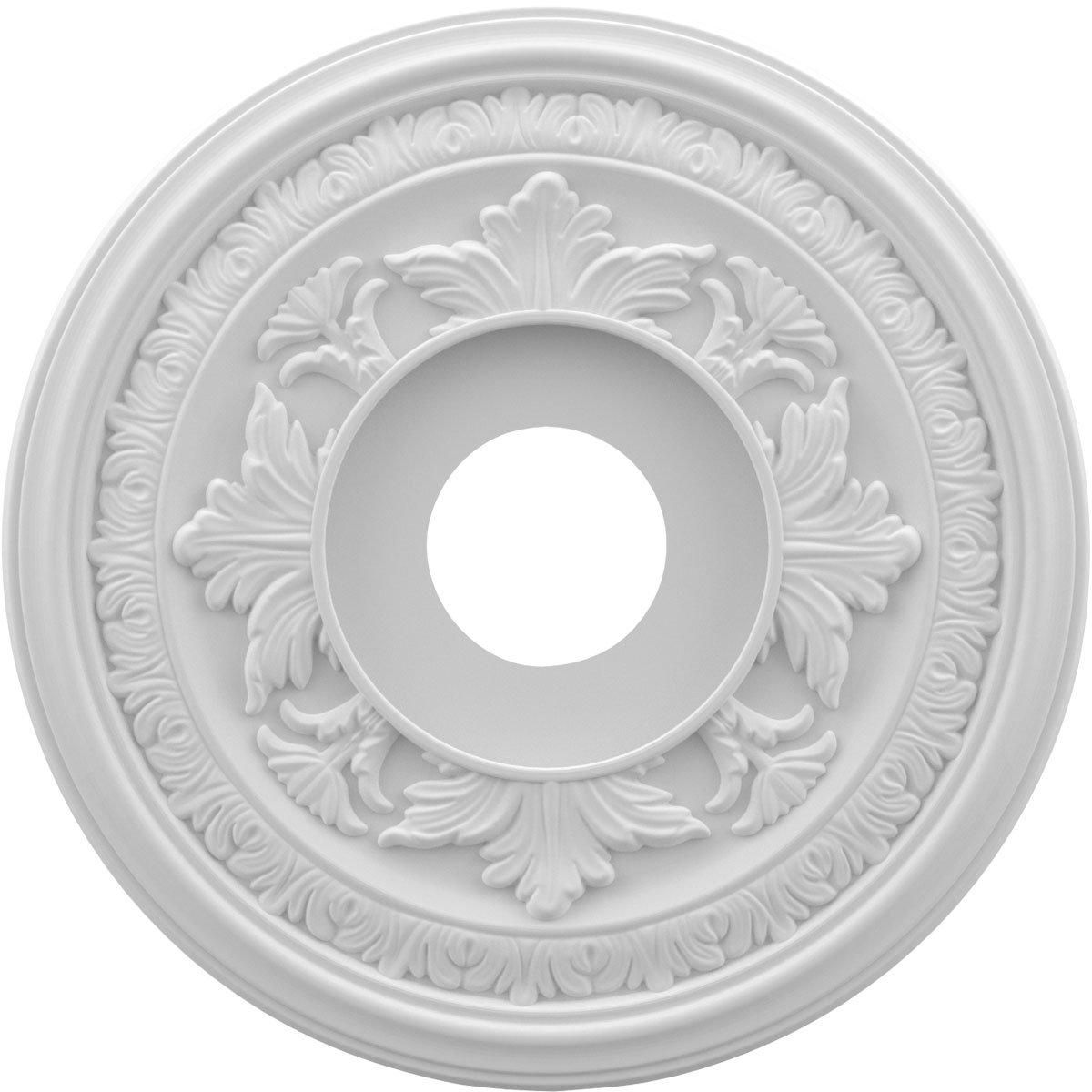 Ekena Millwork CMP16BA Baltimore Medallion Thermoformed Pvc Ceiling, 16'' OD x 3 1/2'' ID x 1'' P, White
