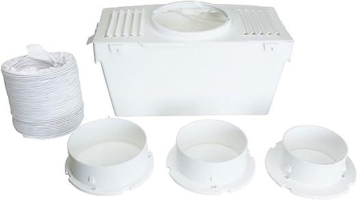 Universel Sèche-linge Condenseur à Air Vent Kit Blanc Intérieur Box Tuyau Tuyau Adaptateur