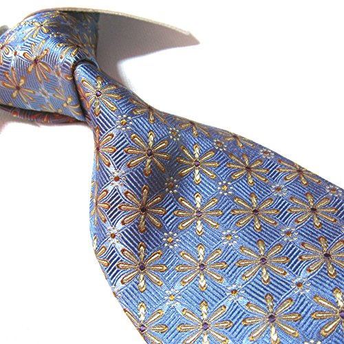 Towergem Extra Long Silk Tie Seven Fold Woven Jacquard Handmade Luxury Necktie XL 63