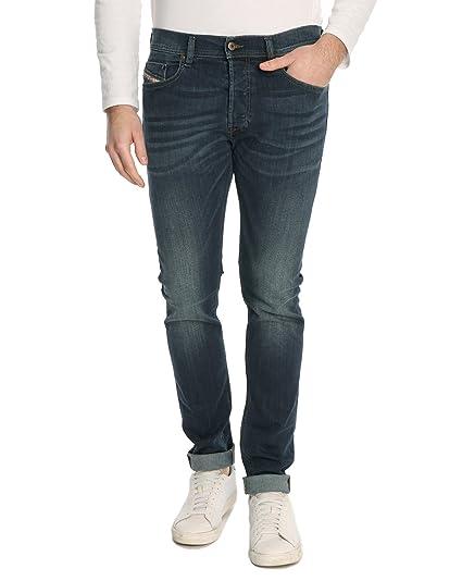 756590df Diesel Slim Leg Jeans, Color: Dark blue: Amazon.co.uk: Clothing