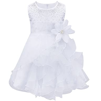 fbab97306d6f3 YiZYiF Bébé Fille Robe Princesse Robe Baptême Cérémonie Soirée Fleur ...