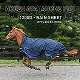 Horze Avalanche 1200D Turnout sheet with Fleece Lining Peacoat Dark Blue 75