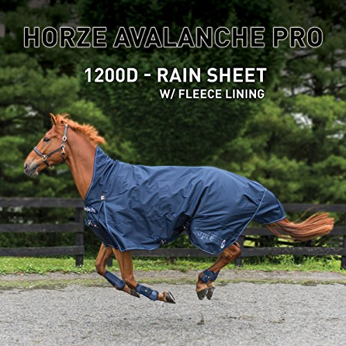 Horze Avalanche 1200D Turnout sheet with Fleece Lining Peacoat Dark Blue 75 by Horze