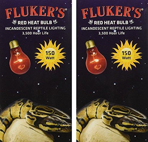 Flukers Red Heat Bulbs - Fluker's 2 Pack of Red Heat Bulbs for Reptiles, 150 watt