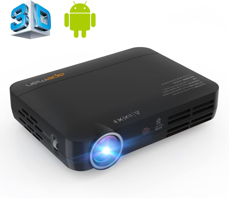 APEMAN Mini proyector de vídeo DLP 3D, Android 4.4 Pico Pocket ...
